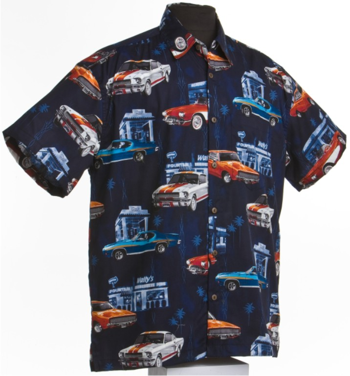 Muscle Car Hawaiian Shirt